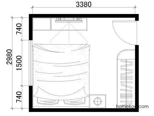 平面布置图乐维斯系列卧房A1332