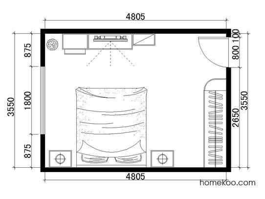 平面布置图格瑞丝系列卧房A2296