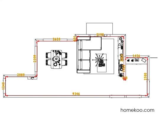 平面布置图柏俪兹系列客餐厅G6504