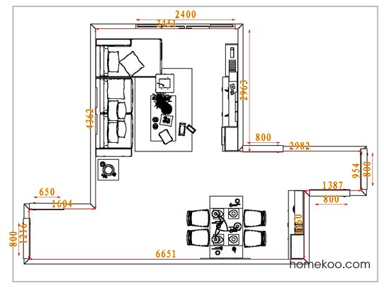平面布置图格瑞丝系列客餐厅G6510