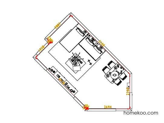 平面布置图贝斯特系列客餐厅G6522