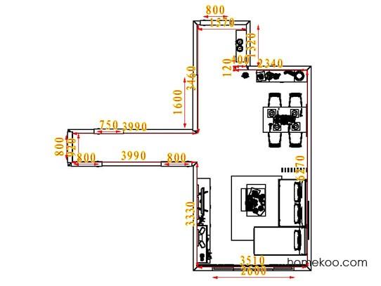 平面布置图乐维斯系列客餐厅G6525