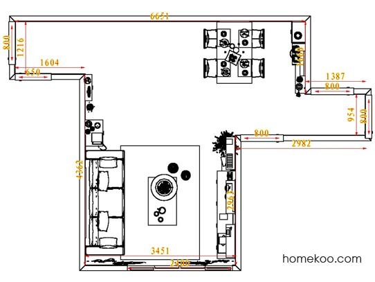 平面布置图贝斯特系列客餐厅G6526