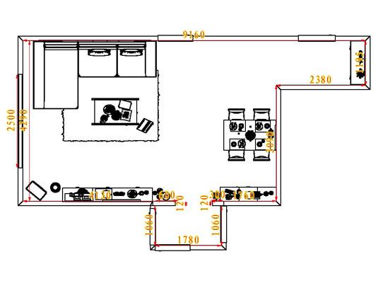 平面布置图乐维斯系列客餐厅G6528