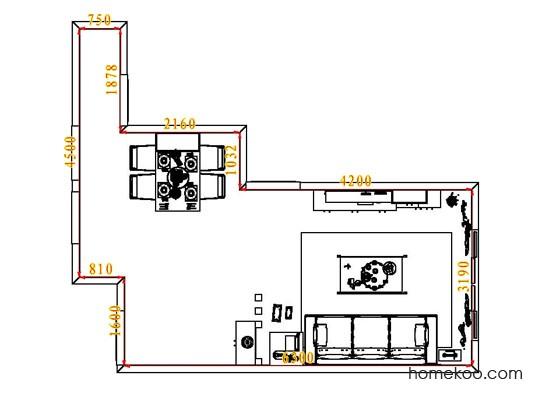 平面布置图柏俪兹系列客餐厅G6535