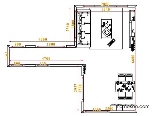 平面布置图乐维斯系列客餐厅G6534