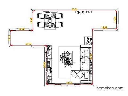 平面布置图斯玛特系列客餐厅G3763