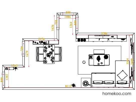 平面布置图德丽卡系列客餐厅G6536