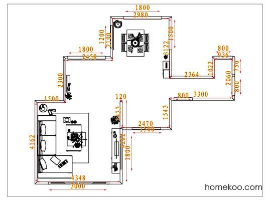 平面布置图斯玛特系列客餐厅G6546