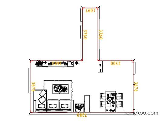 平面布置图格瑞丝系列客餐厅G6553