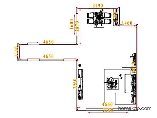平面布置图柏俪兹系列客餐厅G6556