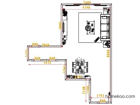 平面布置图乐维斯系列客餐厅G6564