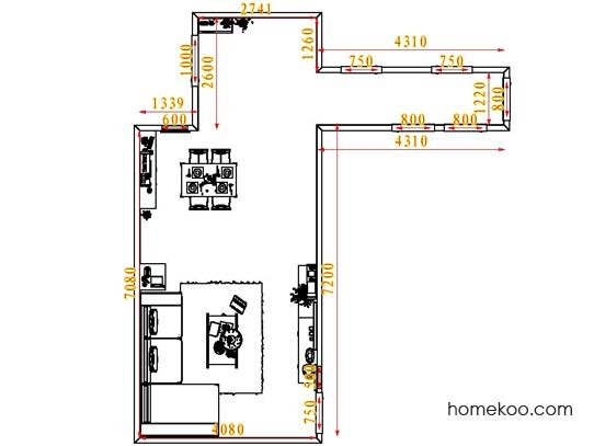 平面布置图柏俪兹系列客餐厅G6570