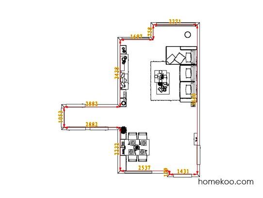 平面布置图柏俪兹系列客餐厅G6576