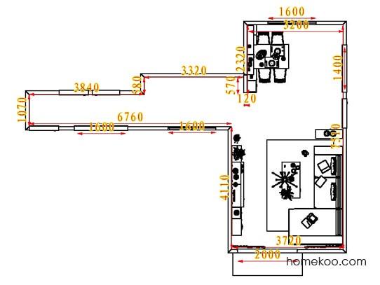 平面布置图贝斯特系列客餐厅G6580