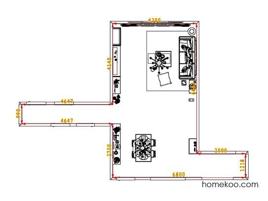 平面布置图乐维斯系列客餐厅G6594