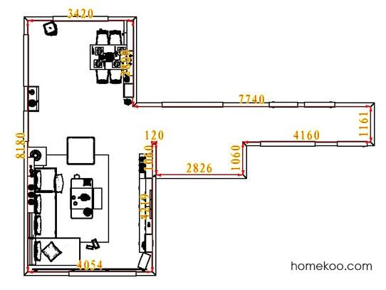 平面布置图德丽卡系列客餐厅G6604