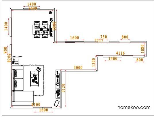 平面布置图乐维斯系列客餐厅G6605