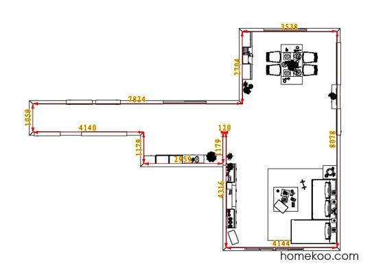 平面布置图德丽卡系列客餐厅G6611