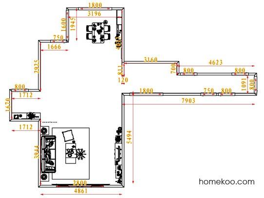 平面布置图格瑞丝系列客餐厅G6614