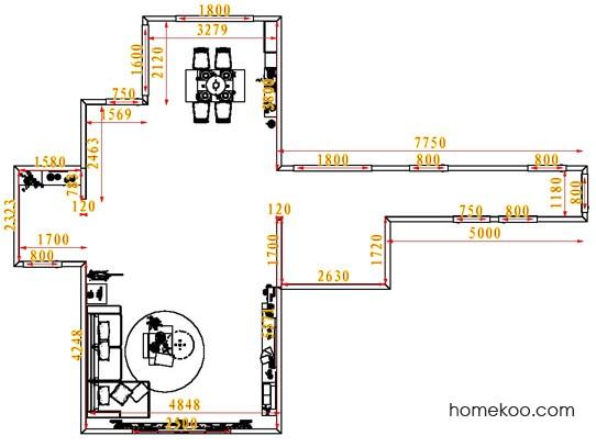 平面布置图乐维斯系列客餐厅G6615