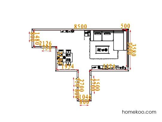 平面布置图斯玛特系列客餐厅G6616