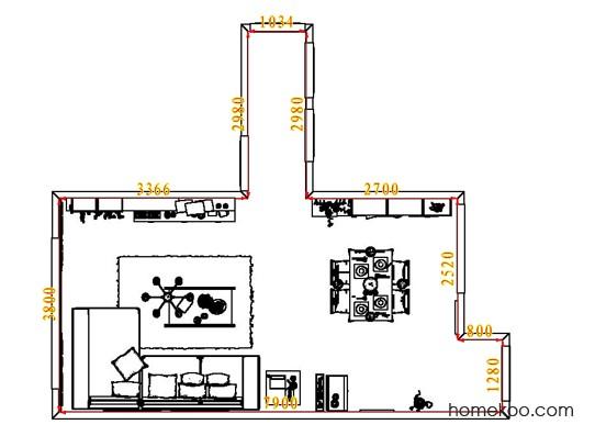平面布置图贝斯特系列客餐厅G6617