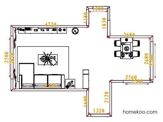 平面布置图格瑞丝系列客餐厅G6621
