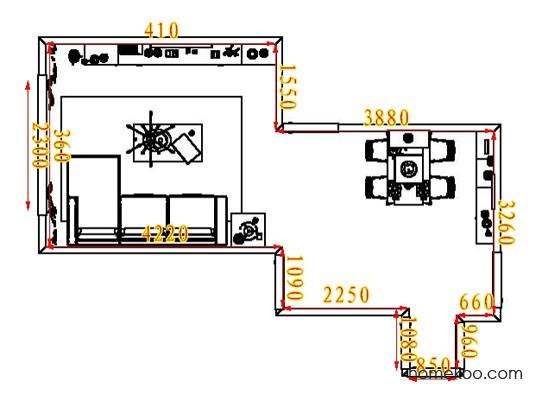 平面布置图贝斯特系列客餐厅G6622