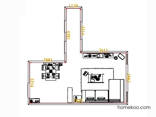 平面布置图斯玛特系列客餐厅G6628