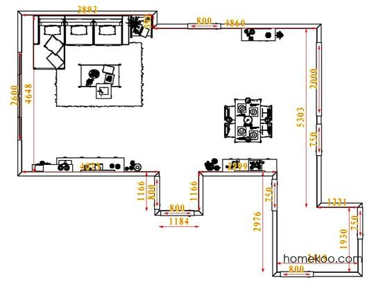 平面布置图德丽卡系列客餐厅G6639