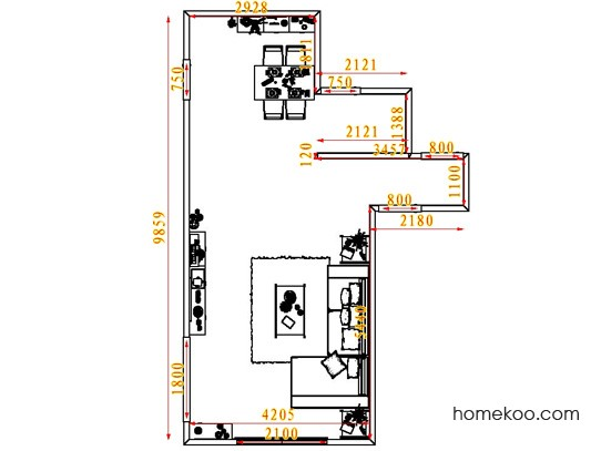 平面布置图斯玛特系列客餐厅G6643