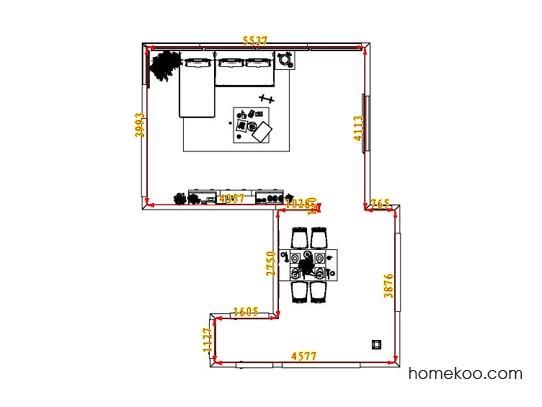 平面布置图斯玛特系列客餐厅G6660