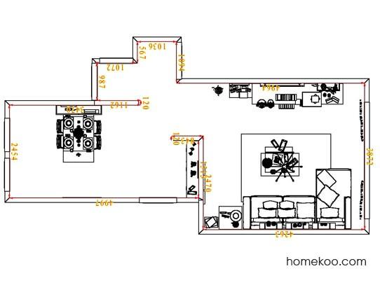 平面布置图斯玛特系列客餐厅G6661