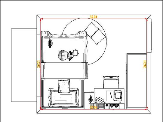 平面布置图柏俪兹系列青少年房B6628