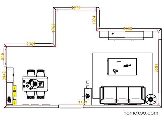 平面布置图柏俪兹系列客餐厅G6664