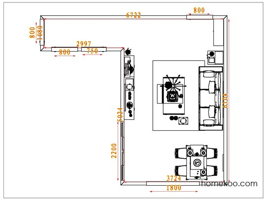 平面布置图格瑞丝系列客餐厅G6668