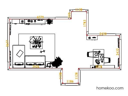 平面布置图斯玛特系列客餐厅G6669