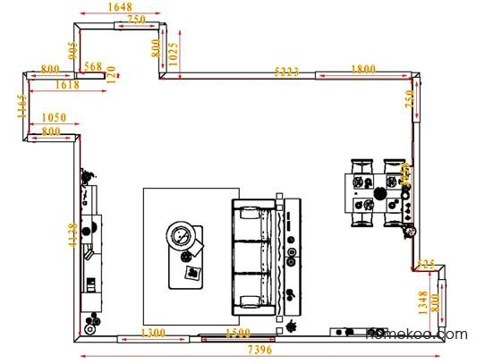 平面布置图斯玛特系列客餐厅G6673