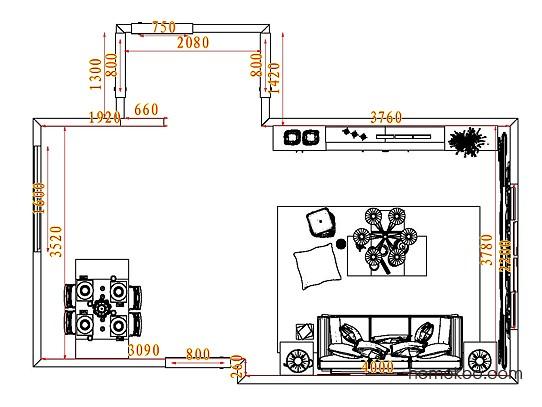 平面布置图斯玛特系列客餐厅G7758