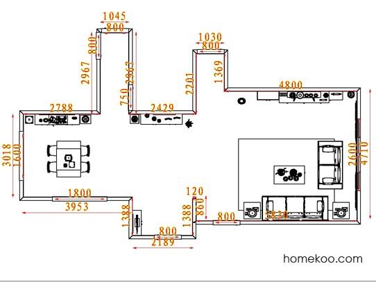 平面布置图德丽卡系列客餐厅G7769