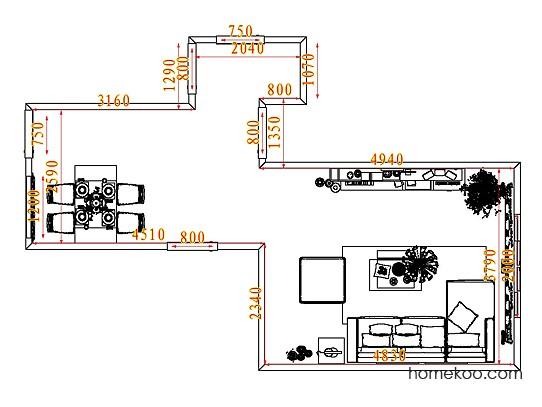 平面布置图德丽卡系列客餐厅G7791