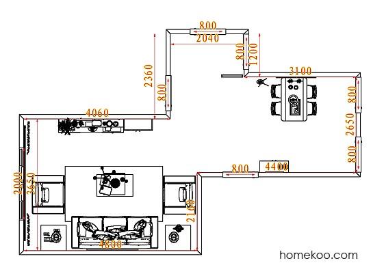 平面布置图斯玛特系列客餐厅G7796