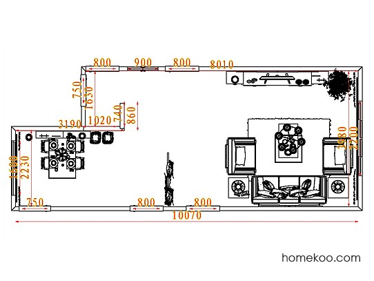 平面布置图斯玛特系列客餐厅G7810