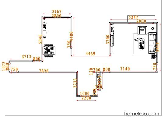 平面布置图斯玛特系列客餐厅G7813