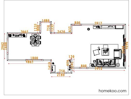 平面布置图柏俪兹系列客餐厅G7816