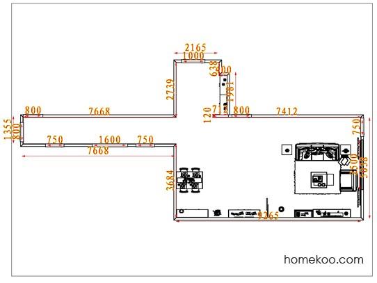 平面布置图贝斯特系列客餐厅G7831