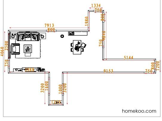 平面布置图格瑞丝系列客餐厅G7832