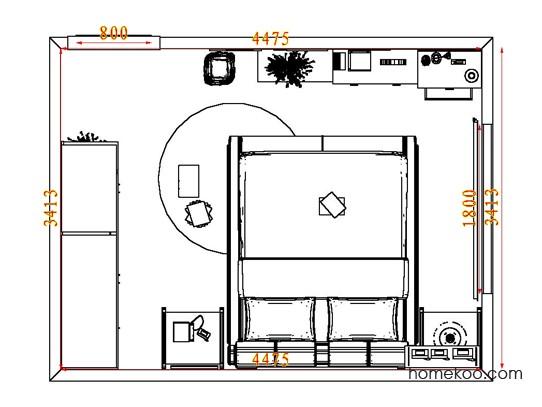 平面布置图斯玛特系列卧房A7847