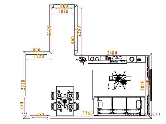 平面布置图格瑞丝系列客餐厅G7845